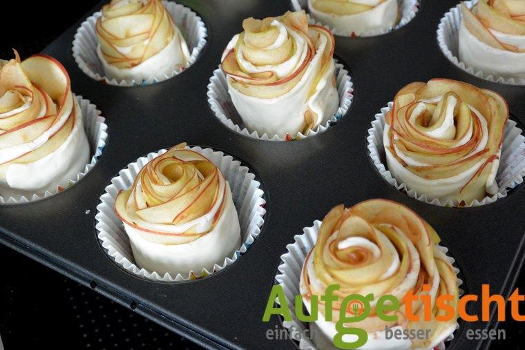 Apfelröschen - der neue Blickfang zum Kaffee - apfelrosen3 - 8