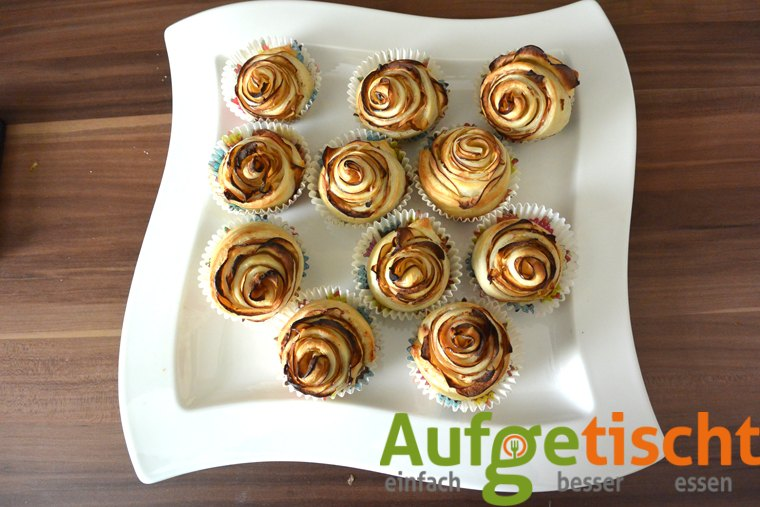 Apfelröschen - der neue Blickfang zum Kaffee - apfelrosen5 - 10