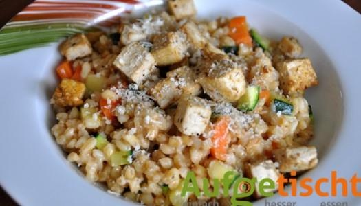 Gemüserisotto und der liebe Tofu
