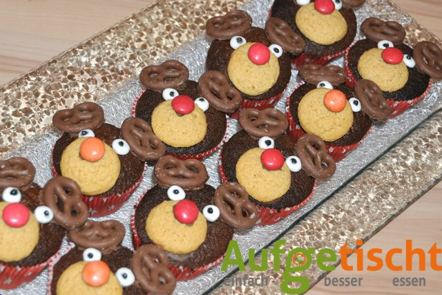 Rudolph the red nosed reindeer... Weihnachtsmuffins mal anders - weihnachtsmuffins3 - 7