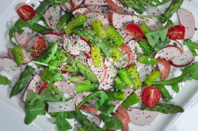 Sommerlicher Wurstsalat mit Spargel - spargelsalat2 - 12