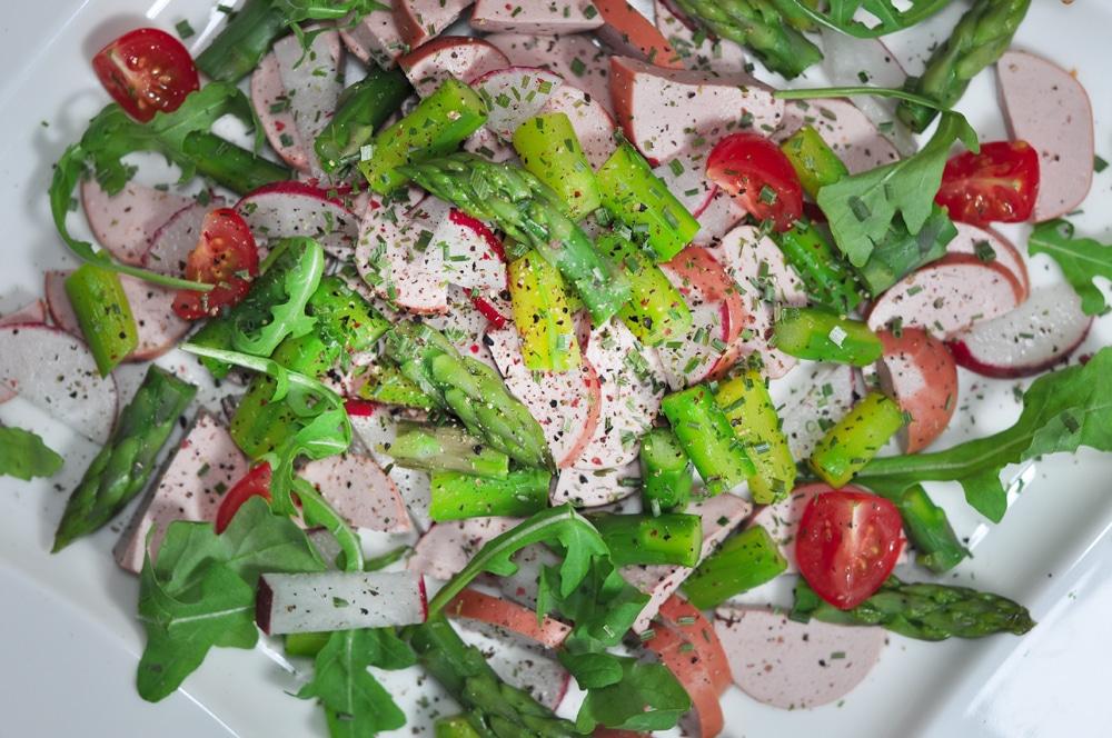 Sommerlicher Wurstsalat mit Spargel - spargelsalat2 - 5