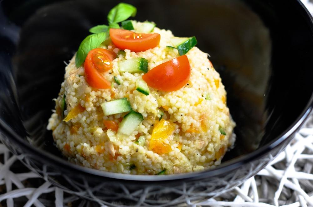 Couscous Salat mit Thunfisch - couscoussalat - 3