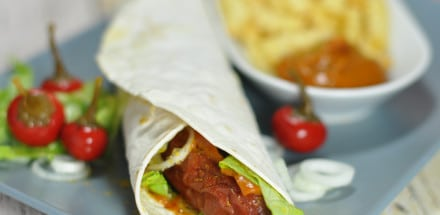 Würzige Curry Krainer Wraps - currykrainerwrap2 - 4