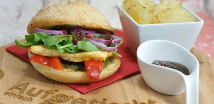 Halloumi Burger - es geht auch vegetarisch - halloumiburger - 3