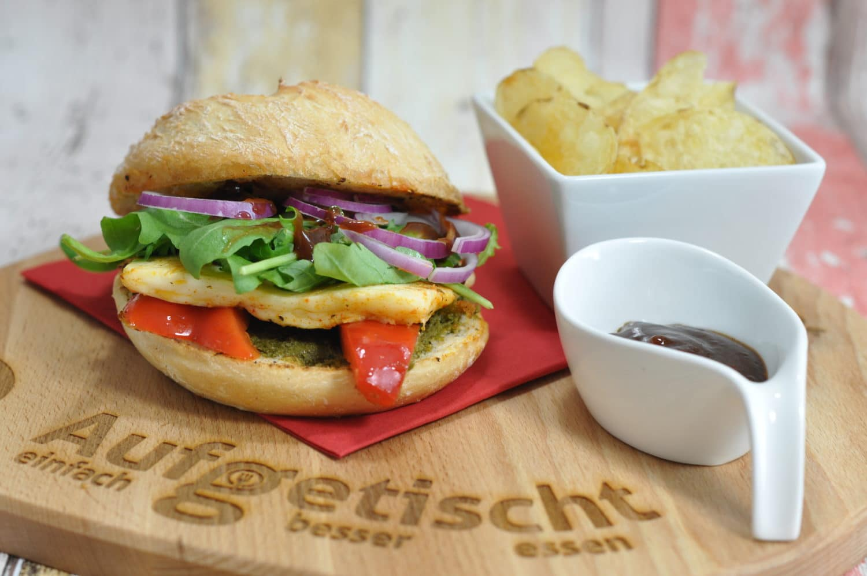 Halloumi Burger - es geht auch vegetarisch - halloumiburger - 5