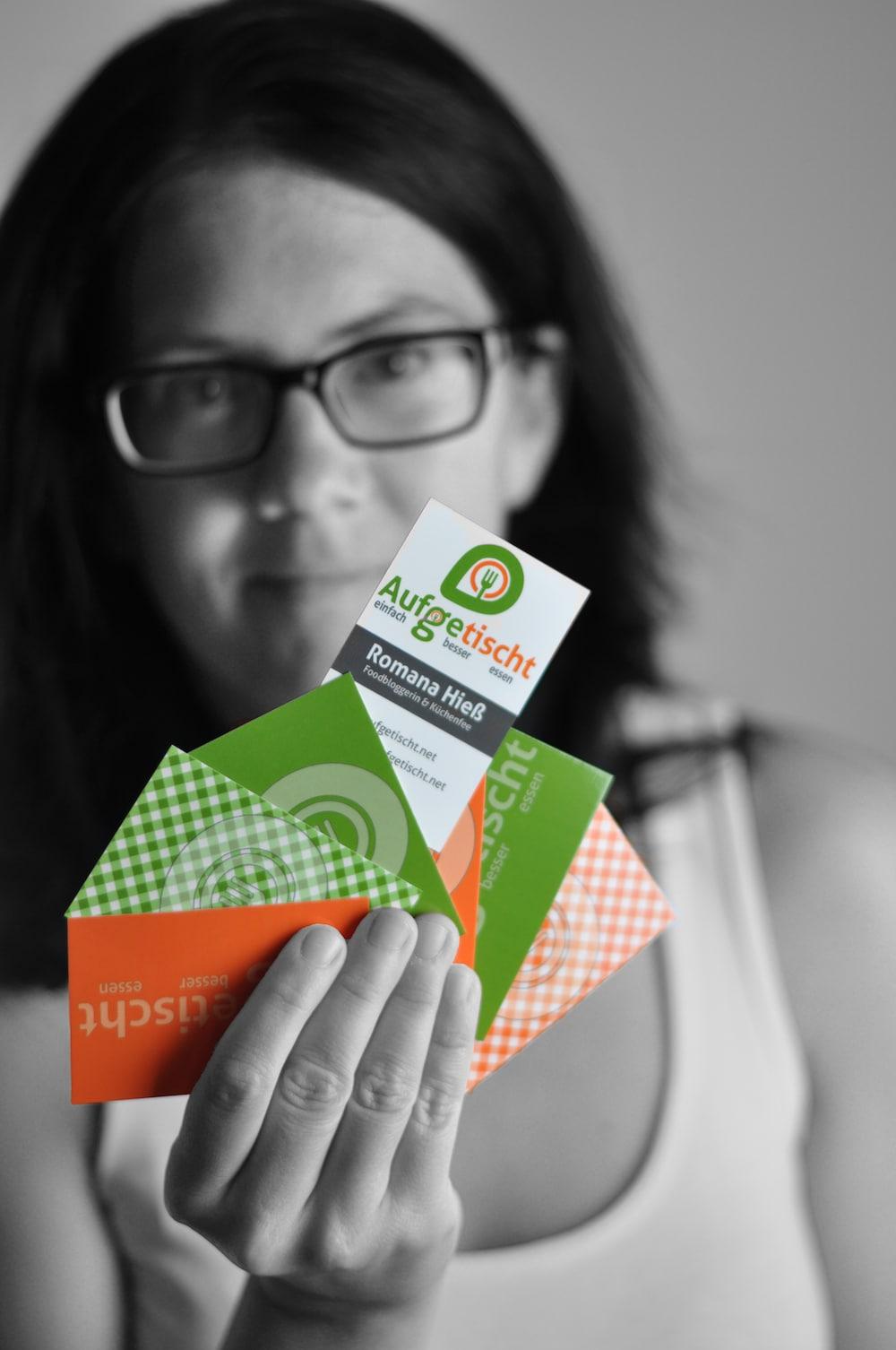 Kostenlose Blogger Visitenkarten Vorlage - aufgetischt.net