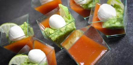 Paradeiserpudding mit Avocados - Tomatenpudding - 4