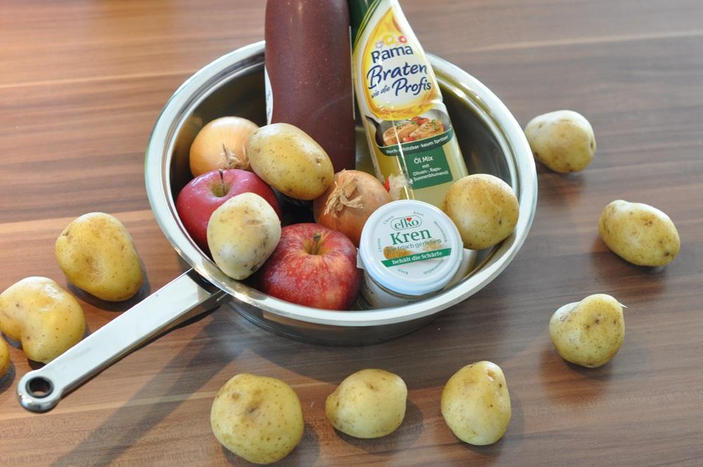 Blunzengröstl mit Äpfeln - blunzngroestl - 5