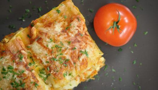 Lasagne mit Tofu und Gemüse