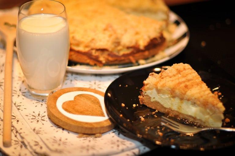 Cheesecake trifft Apfelstreuselkuchen - cheesecake apfelstreuselkuchen2 - 22