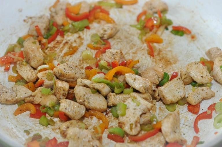 Quinoa Gemüsepfanne mit Hühnerfleisch - quinoa gemüsepfanne - 4