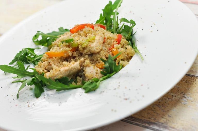 Quinoa Gemüsepfanne mit Hühnerfleisch - quinoa gemüsepfanne4 - 2