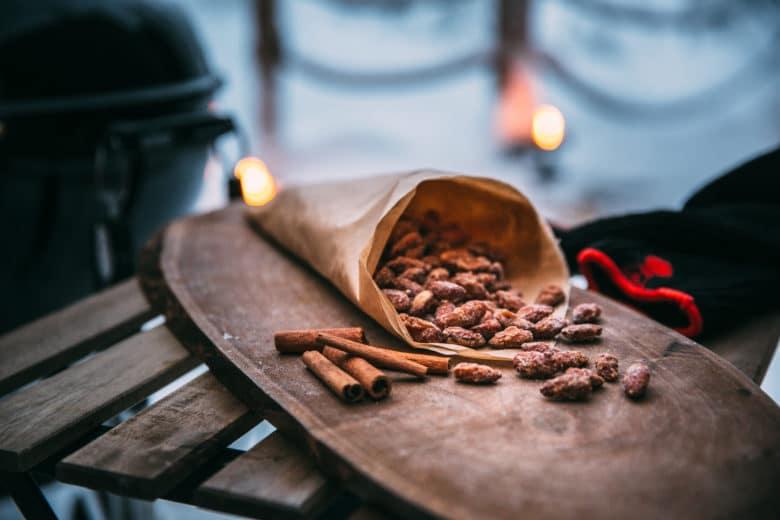Gebrannte Mandeln - ein Top Rezept beim Wintergrillen
