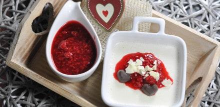 Panna cotta Rezept mit fruchtigen Himbeeren - pannacotta - 3