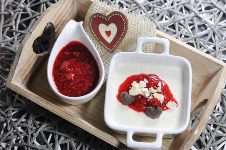 Panna cotta Rezept mit fruchtigen Himbeeren - pannacotta - 5