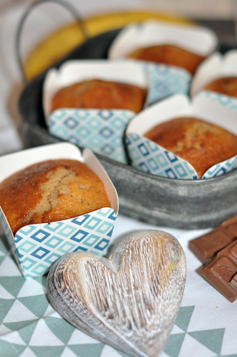 Schoko-Bananen-Muffins so köstlich einfach! - schoko bananen muffins2 - 3