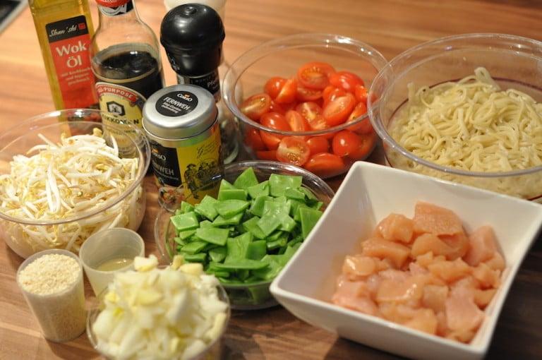 Asiatischer Gemüse Wok mit Hühnerbrust - asiaitischer gemuese wok 01 - 6