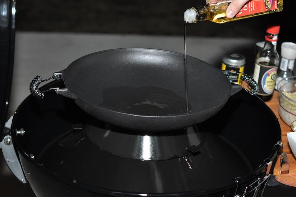 Wok Für Gasgrill : Wok gusseisen mit aufsatz cm durchmesser gasmeier