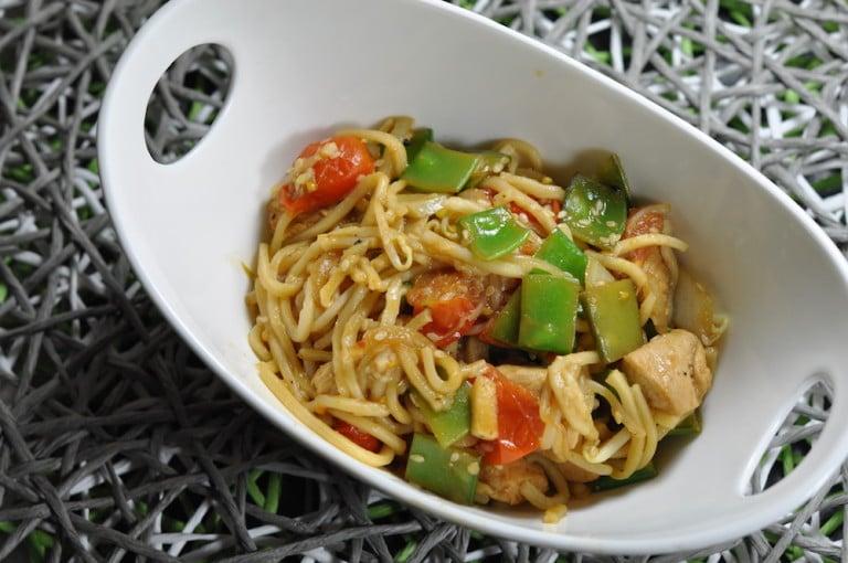 Asiatischer Gemüse Wok mit Hühnerbrust - asiaitischer gemuese wok 05 - 14