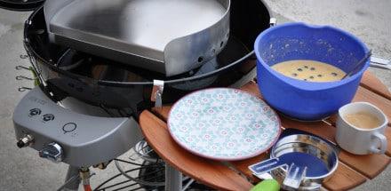 amerikanische Pancakes mit Bananen & Heidelbeeren - pancakes2 - 7