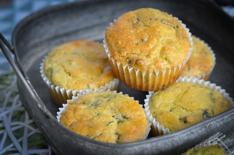 Polenta Bärlauch Muffins mit Feta Kern - polenta bärlauch muffins - 8