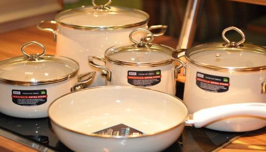 Emaille Kochgeschirr Set Nouvelle – Avorio wie aus Omas Küche