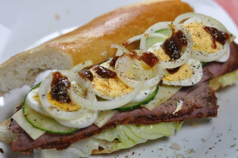 Pastrami Sandwich New York City Style