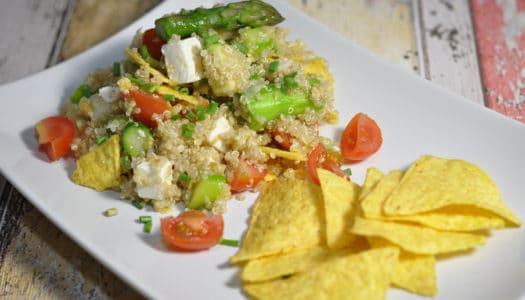 Spargel Quinoa Salat mit Nachos
