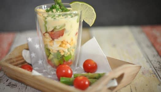 Spargel Avocado Salat im Glas