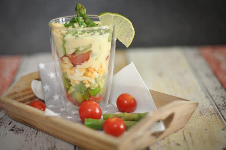 Spargel Avocado Salat im Glas - spargel avocado salat - 2