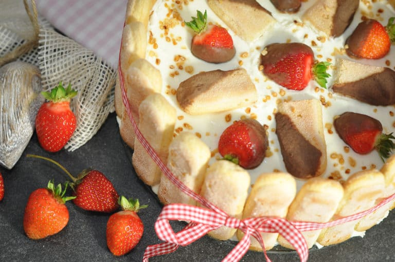 Erdbeertiramisu Torte, der Sommertraum schlechthin! - erdbeertiramisu 3 - 11