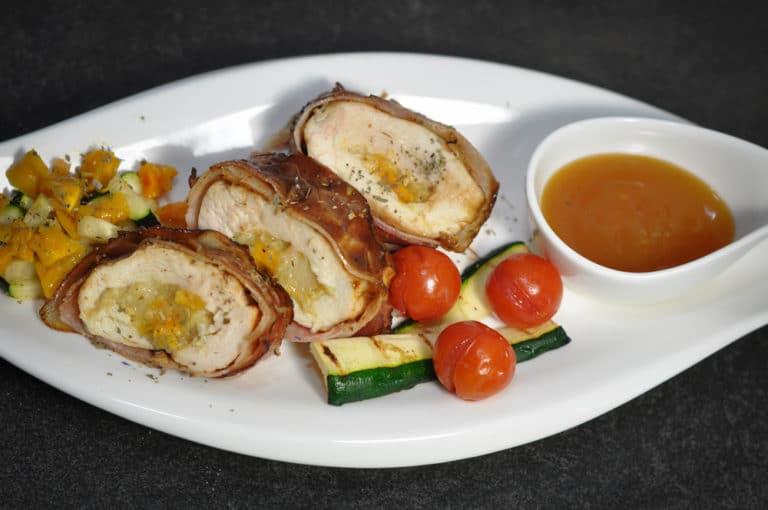 Gegrillte Hühnerbrust mit Bananen-Mango Fülle - hühnerbrust gefüllt 4 - 9