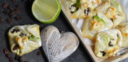 Limetten Topfengolatschen - ein Sommertraum aus Blätterteig