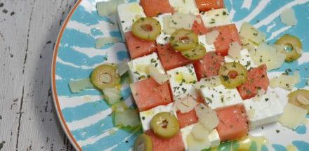Melonen Feta Sommersalat - melonen feta salat 2 - 2