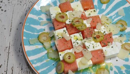 Melonen Feta Sommersalat
