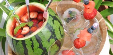 Fruchtige Erdbeer-Melonen Bowle - erdbeer melonen bowle - 3