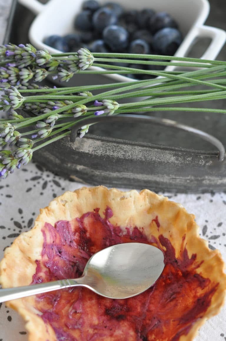 Lavendel Heidelbeer Eis - so herrlich cremig - lavendel heidelbeer eis 7 - 8