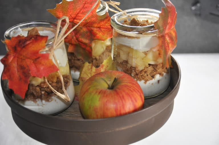 Apfel Spekulatius Dessert im Glas - apfel zimt dessert 2 - 8