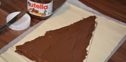 Blätterteig Nutella baum