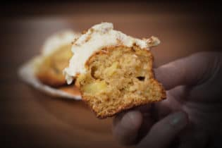 winterlichte Bratapfel Cupcakes