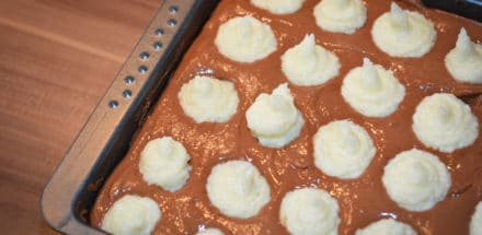 getupfter Schokoladen Kokoskuchen