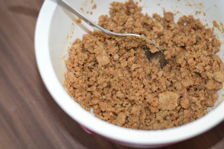 Boden für Schoko cheescake zubereiten