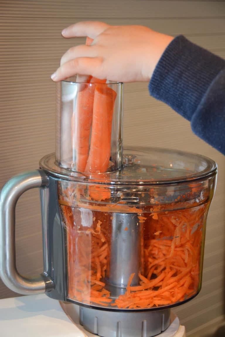 Karotten im Kenwood Zerkleinerer