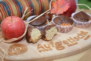 Herbstmuffins Apfel Nuss Schokolade