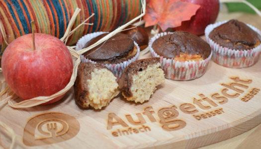 gesunde Apfel-Nuss-Muffins