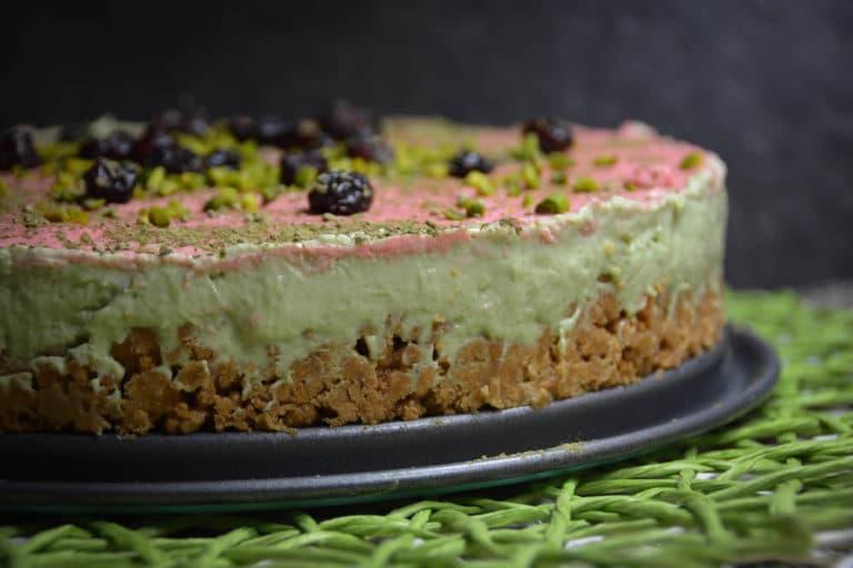 No bake Cheesecake mit Matcha