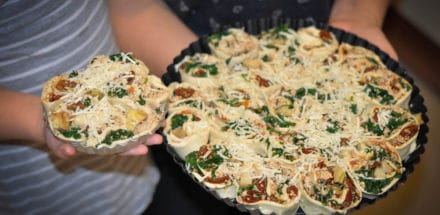 Pizzaschnecken für den Grill