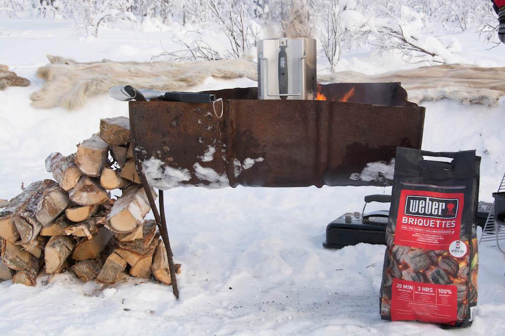 Extreme BBQ in der Wildnis Lapplands - Lappland 088g - 84