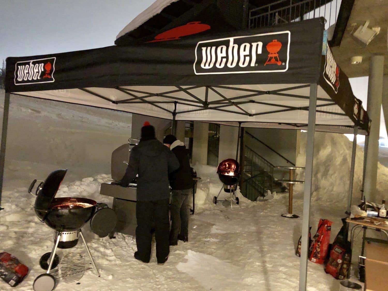 Wintergrillen mitten in Lappland bei rund -20 Grad